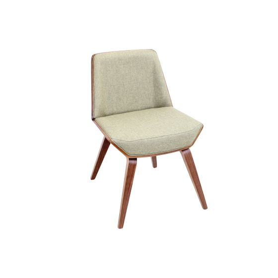 Corazza Chair in Green & Walnut