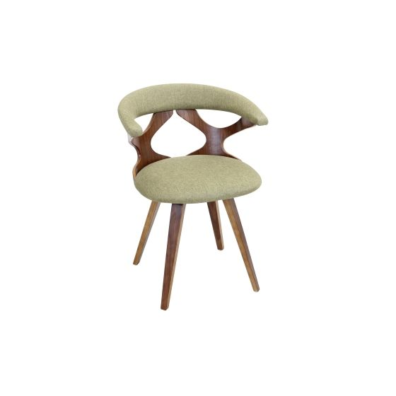 Gardenia Chair in Green & Walnut
