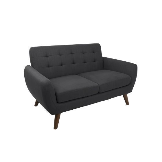 Hemingway Settee in Charcoal Grey