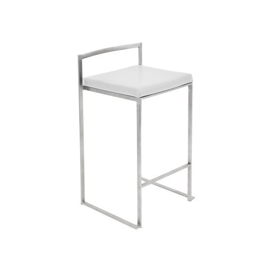 Fuji Counter Stool in White