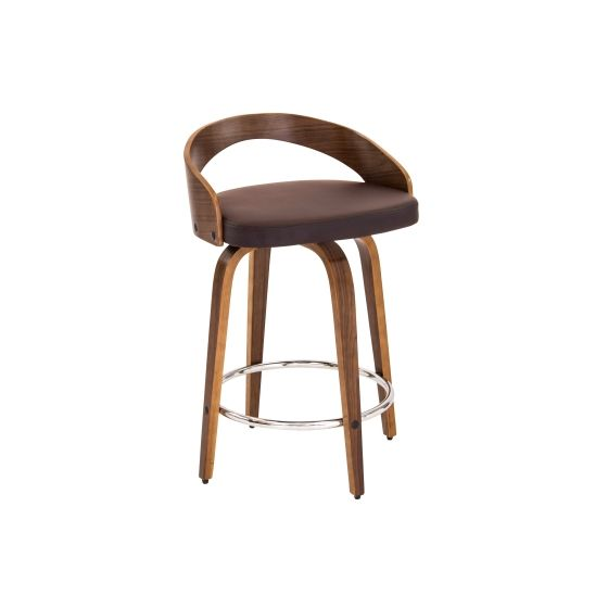 Grotto Counter Stool in Walnut Brown
