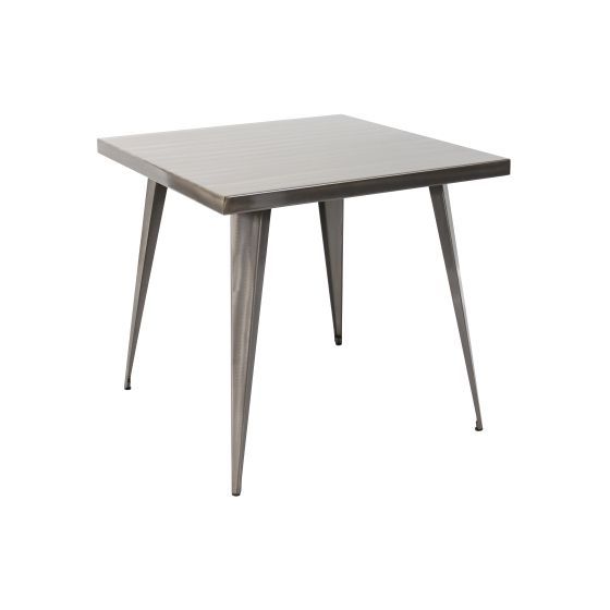 Austin 32x32' Dining Table in Brushed Silver