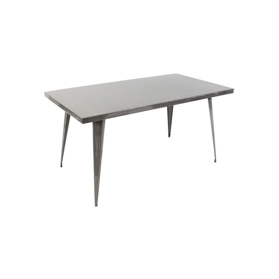 Austin 60x32' Dining Table in Brushed Silver