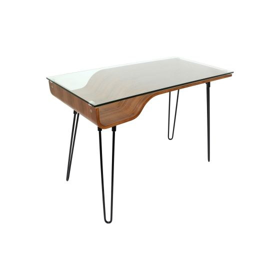 Avery Desk in Walnut & Black