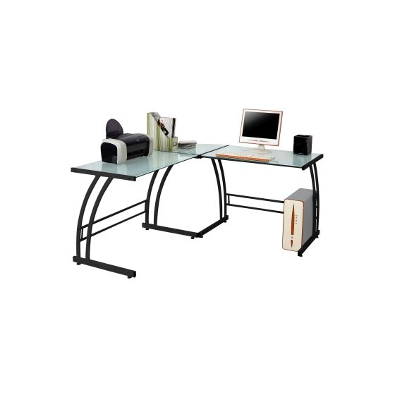 Gamma Desk in Black Frame & White