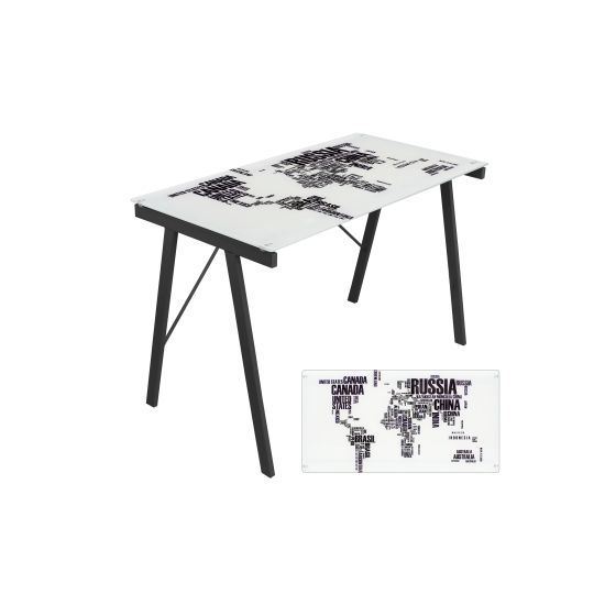 Graphic Exponent Desk in White & Black