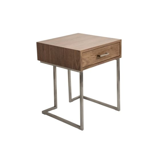 Roman End Table in Silver Frame & Stainless Steel