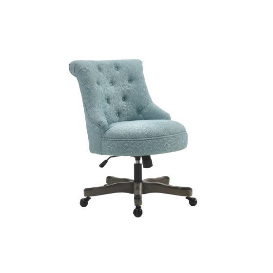 Sinclair Armless Office Chair in Light Blue