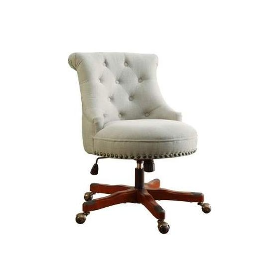 Sinclair Armless Office Chair in Natural