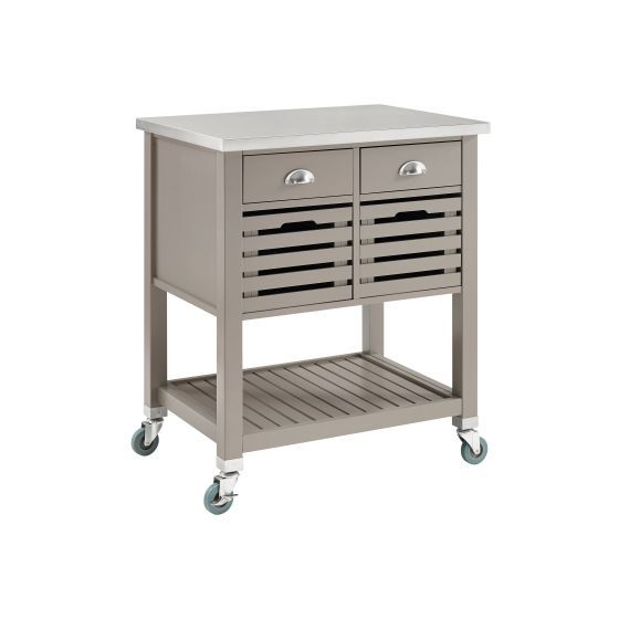 Robbin Wooden Kitchen Cart in Grey