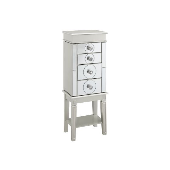 Madison Silver Jewelry Armoire in Silver