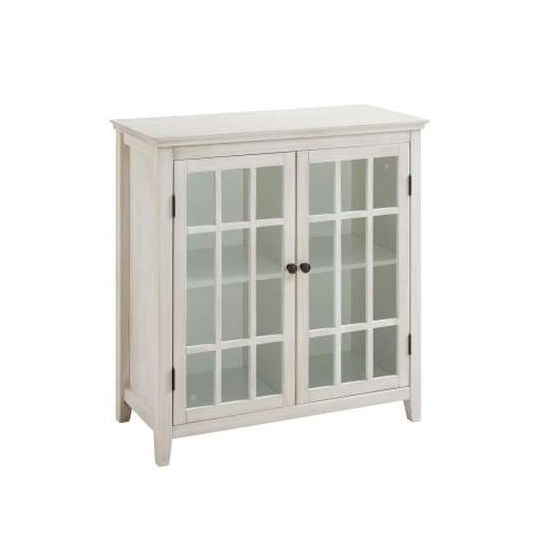 Largo 2 Tier Double Door Cabinet in Antique White