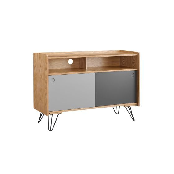 Perry Storage Console Table in Grey