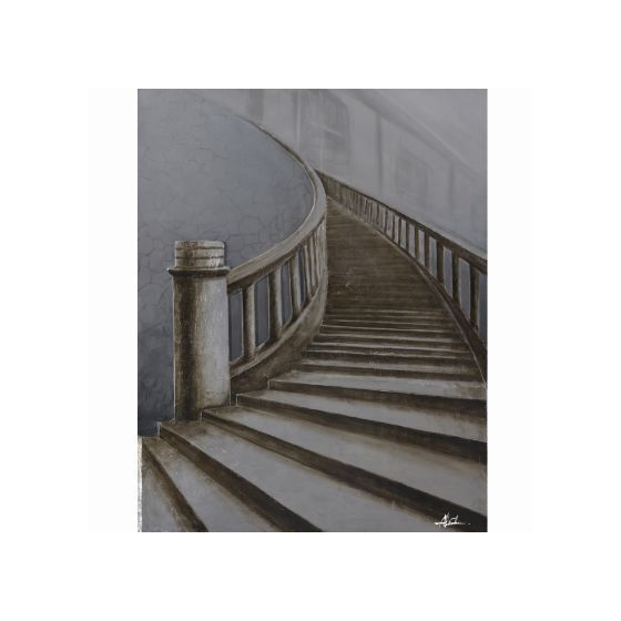 Up Stairs Original Hand Painted Wall Art