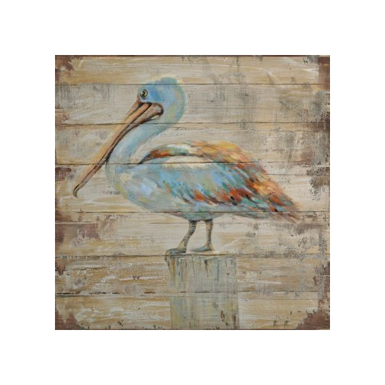 Rustic and Winged Painted on Wood