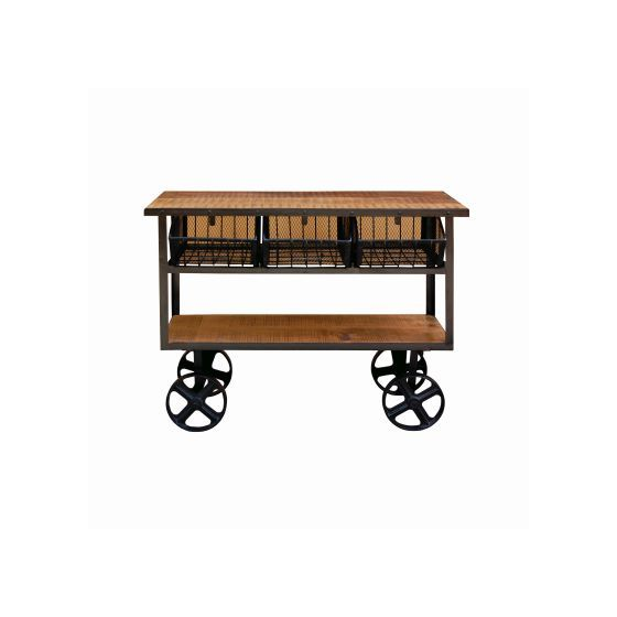 Solid Mango Wood Cart