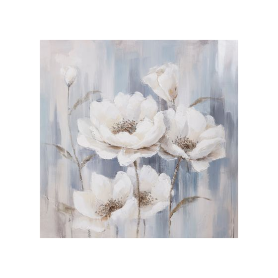 Delight in White Printed on Canvas