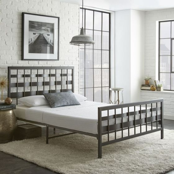 Elan Metal Platform Bed in Black