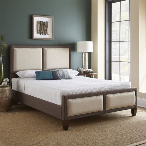 Harrison Brown Queen Bed with Mattress
