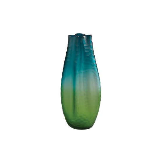 Large Faceted Amorphous Glass Vase