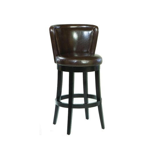 Lisbon 30'' Swivel Barstool/ Brown Leather Mbs-11