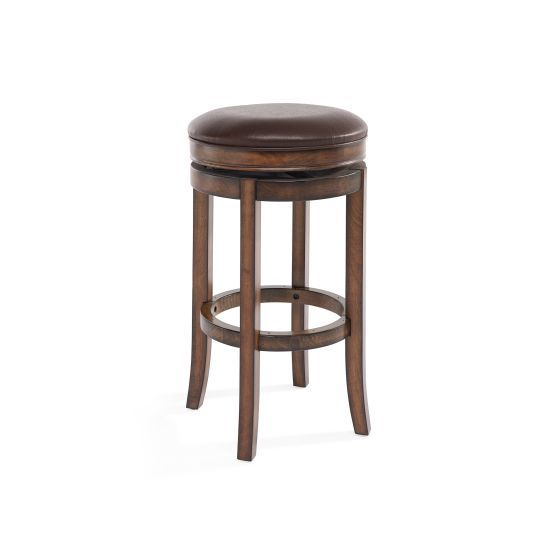 26'' Counter Height Swivel Wood Barstool in Chestnut