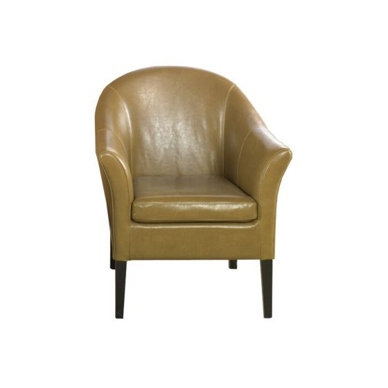 Ashley Chair Camel Leather Club