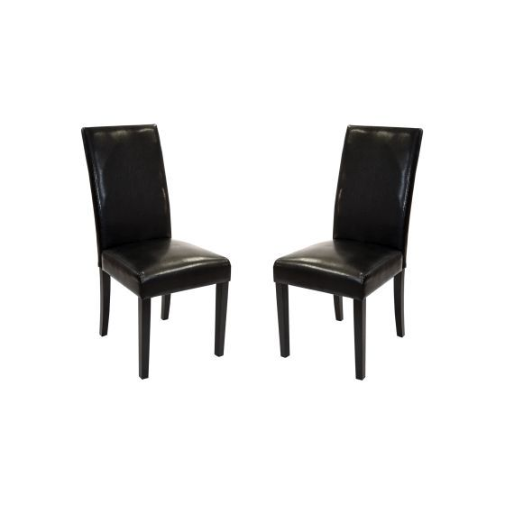 Black Bonded Leather Side Chair Md-014