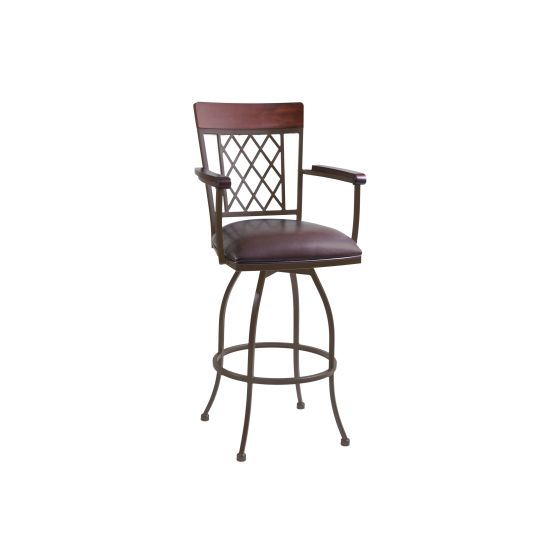 Napa 26'' Counter Height Arm Barstool in Auburn Bay finish