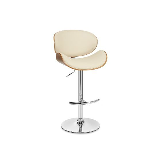 Naples Swivel Barstool in Chrome with Cream Pu