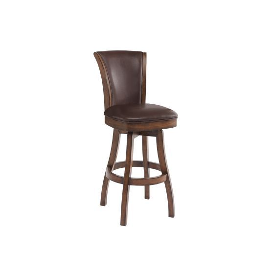Raleigh 30'' Bar Height Swivel Wood Barstool in Chestnut