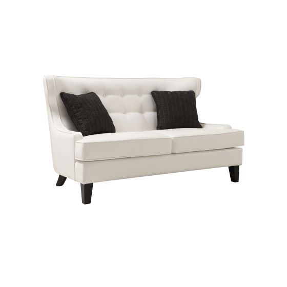 Skyline Aaron's Loveseat In White Bonded Leather