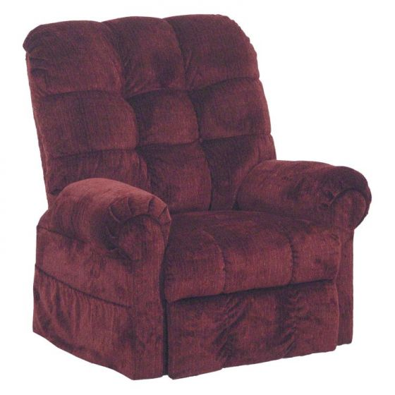 Omni Power Lift Full Lay-Out Chaise Recliner in Chianti