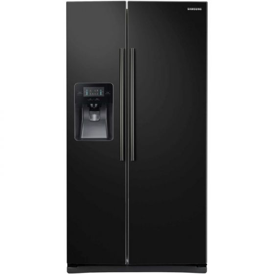25 Cu.Ft. Side by Side Refrigerator in Smooth Black