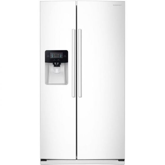 25 Cu.Ft. Side by Side Refrigerator in White
