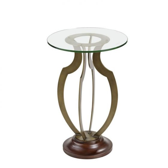 Krier RD Accent Table in Antique Brass
