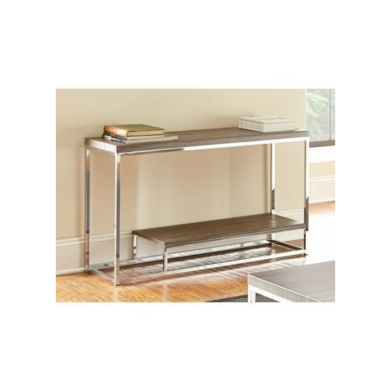 Lucia Sofa Table in Black Nickel