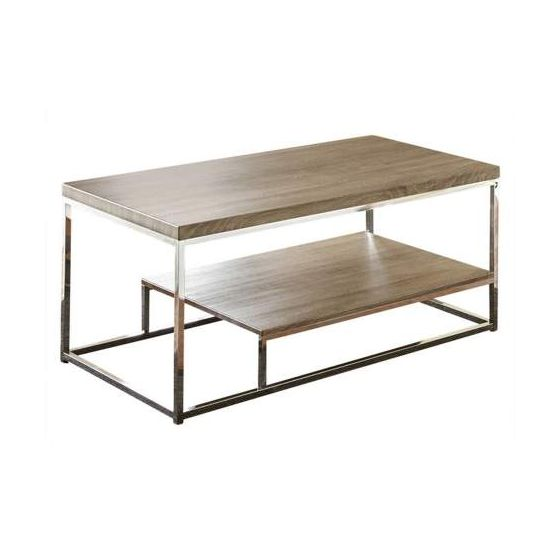 Lucia Coffee Table in Gray and Brown
