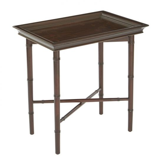 Salem Folding Serving Tray in Brown