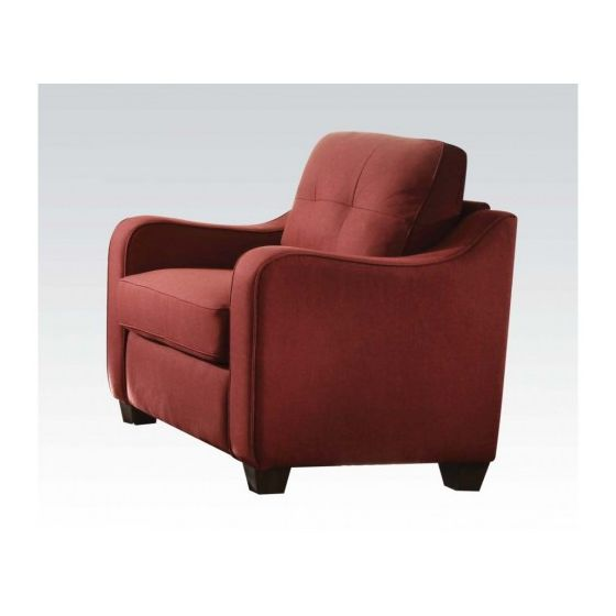 Cleavon II Aaron's Chair with Red Linen Finish