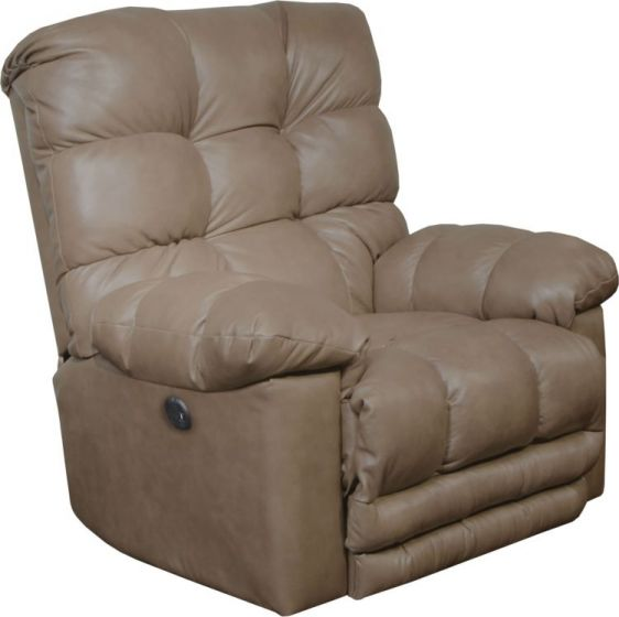 Power Lay Flat Recliner withX-tra Comfort Footrest in Smoke