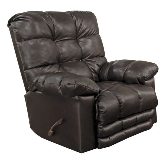 Rocker Recliner with X-tra Comfort Footrest in Chocolate