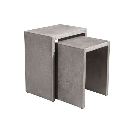 Mom Nesting Side Tables in Cement