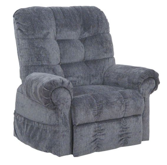 Omni Power Lift Full Lay-Out Chaise Recliner in Black Pearl