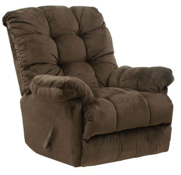 Chaise Rocker Recliner with Deluxe Heat & Massage in Umber
