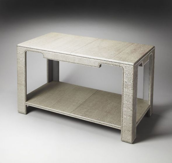 Ricci Leather Console Table