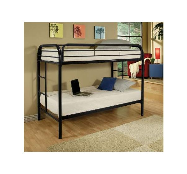 Thomas Twin Bunk Bed In Black Beds Loft Kids Youth Furniture Baby