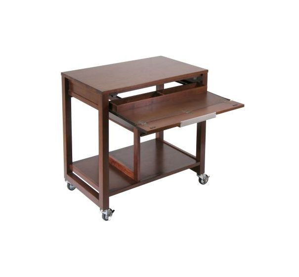 Ordinaire Rockford Wheeled Computer Desk In Antique Walnut