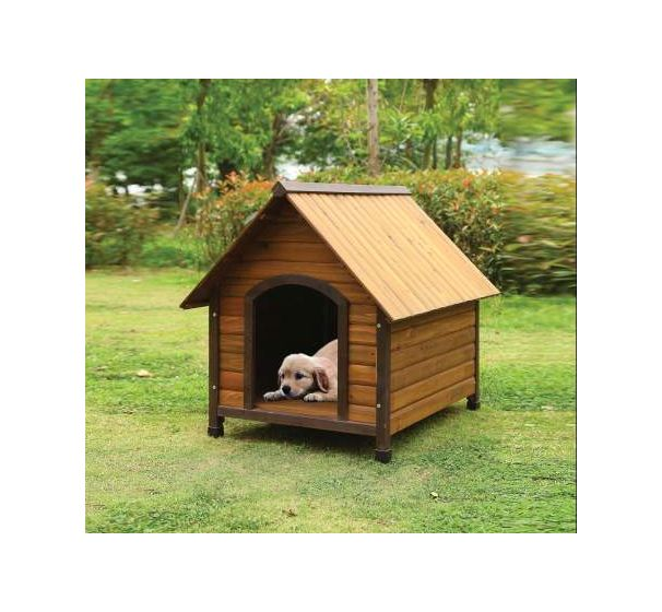 Woody Pet House with Oak Finish