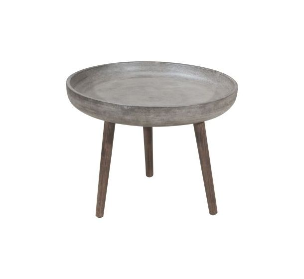 Brother Side Table in Cement and Natural